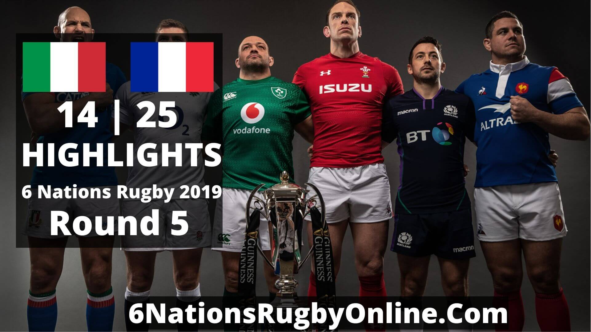 Italy Vs France Highlights 2019 Six Nations Rugby Round 5