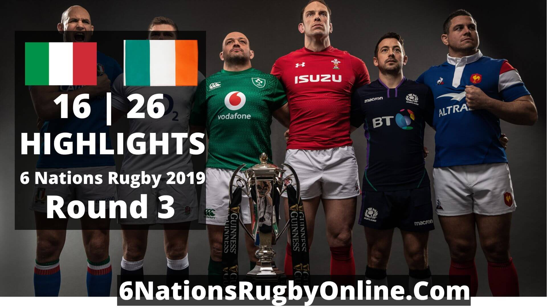 Italy Vs Ireland Highlights 2019 Six Nations Rugby Round 3