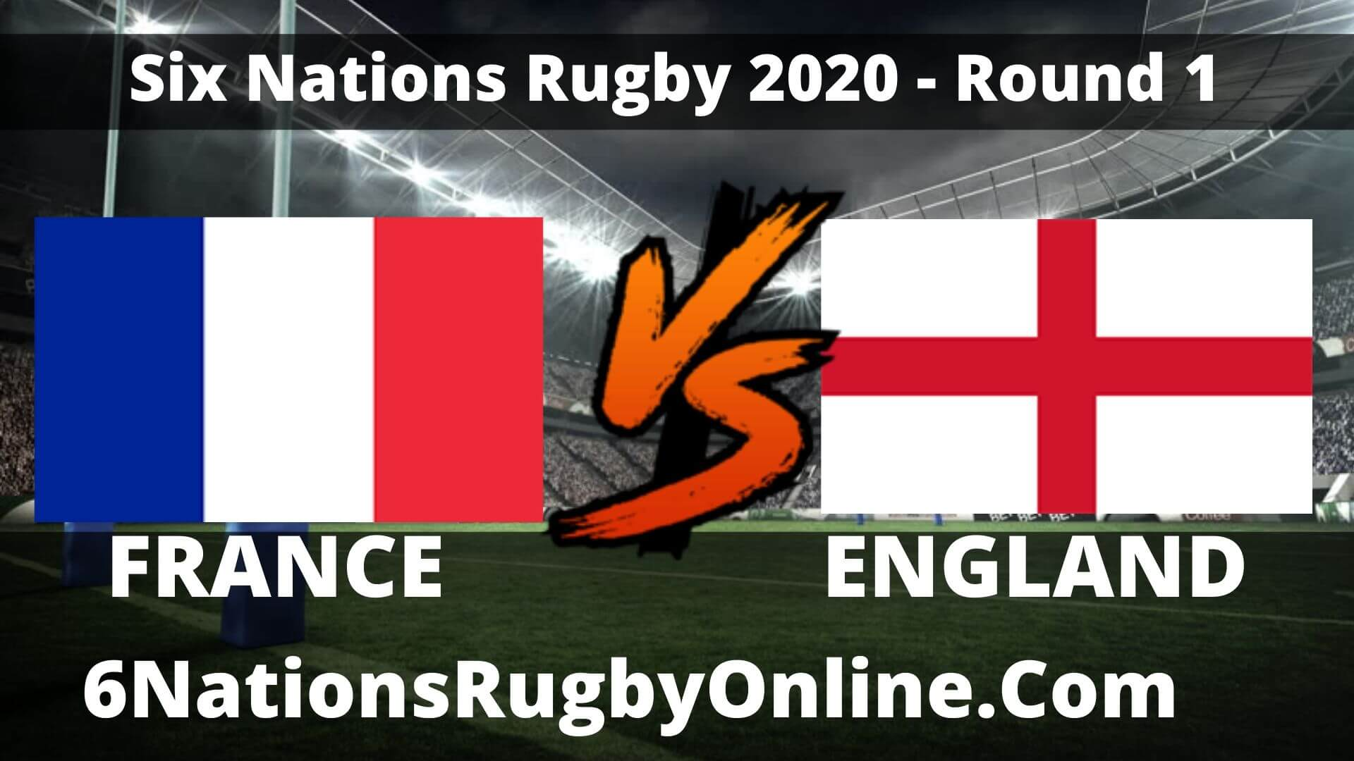 France vs England Live Stream 2020 Round 1 | Match Replay
