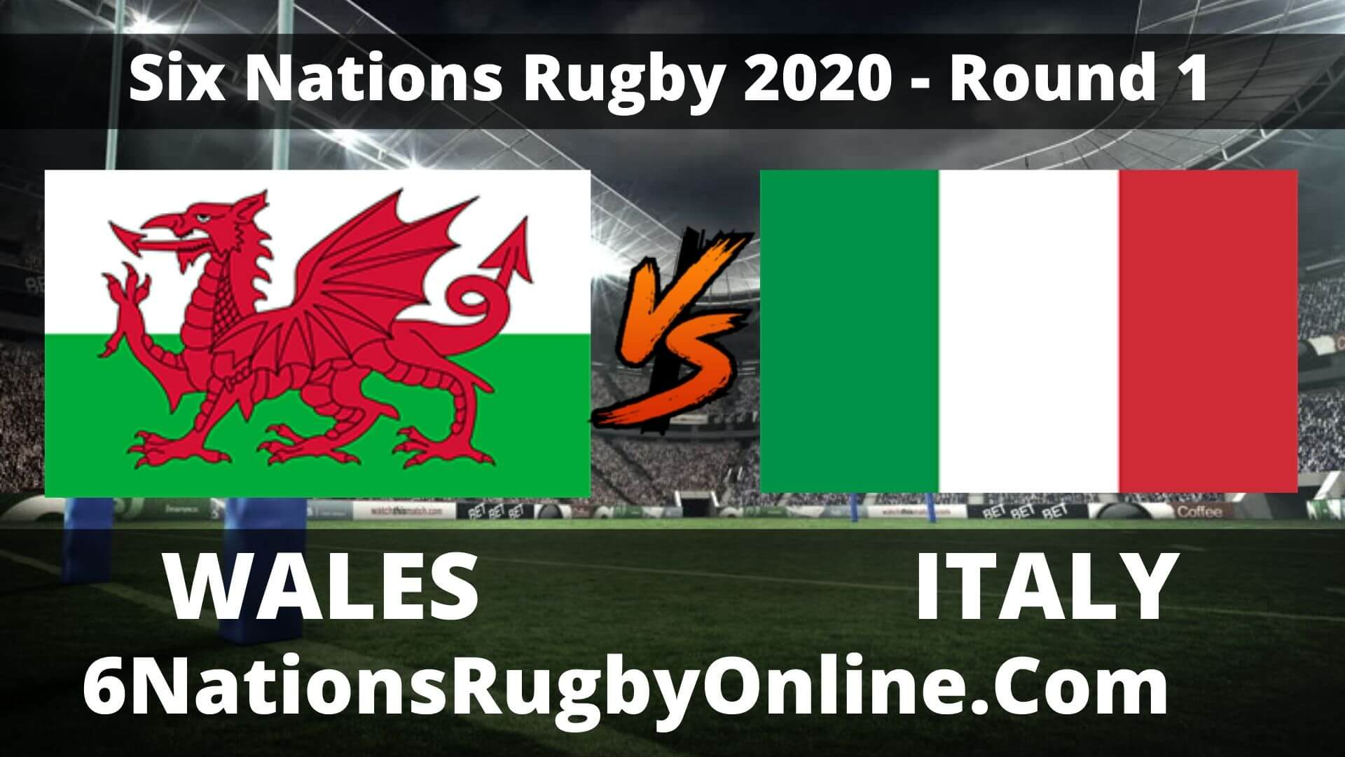 Wales vs Italy Live Stream 2020 Round 1 | Full Match Replay
