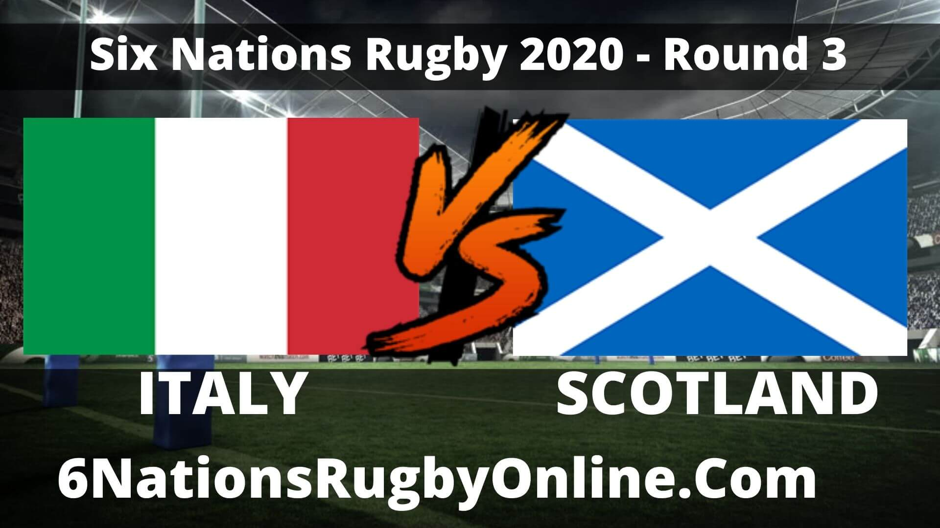 Italy vs Scotland Live Stream 2020 Round 3 | Match Replay