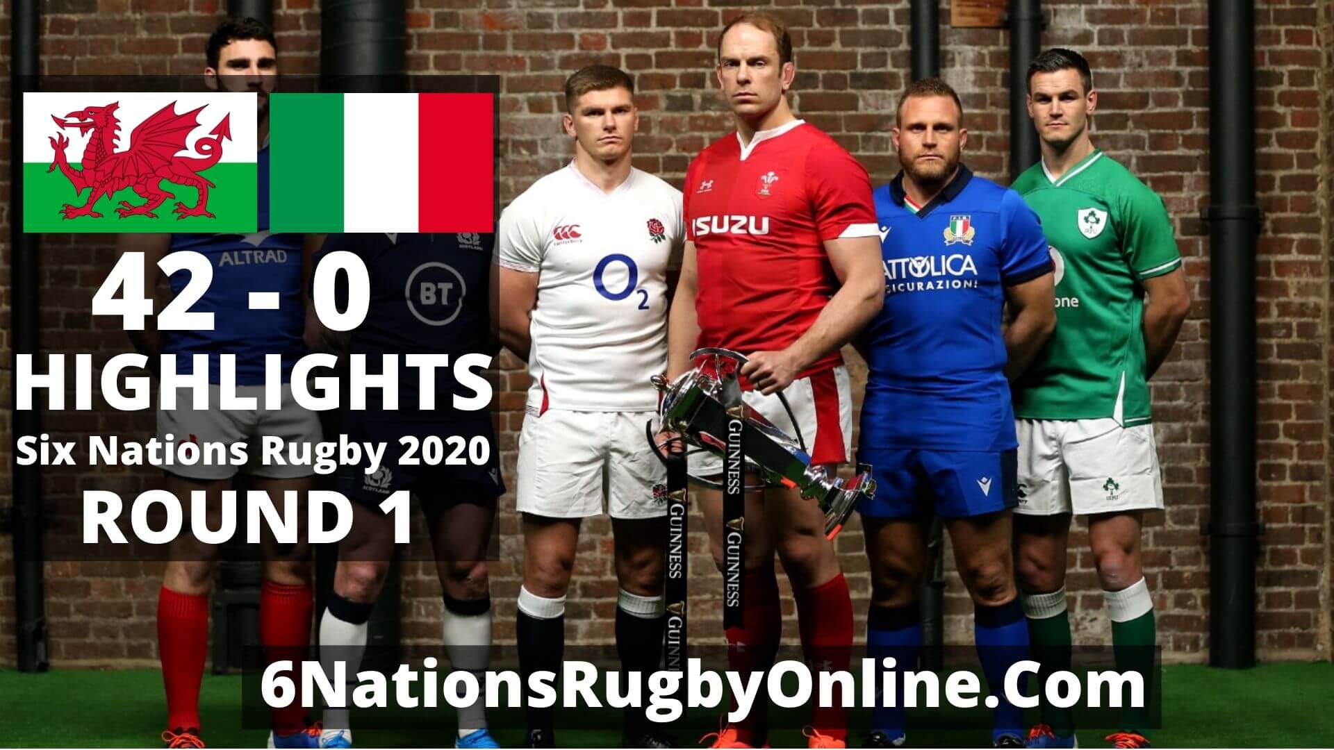 Wales vs Italy Six Nations Rugby Highlights 2020 Full Match Replay