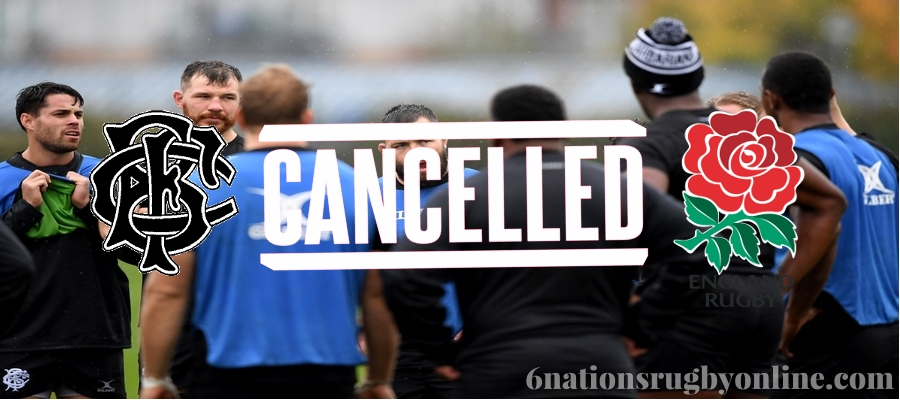 England vs Barbarians International Test Match Cancelled