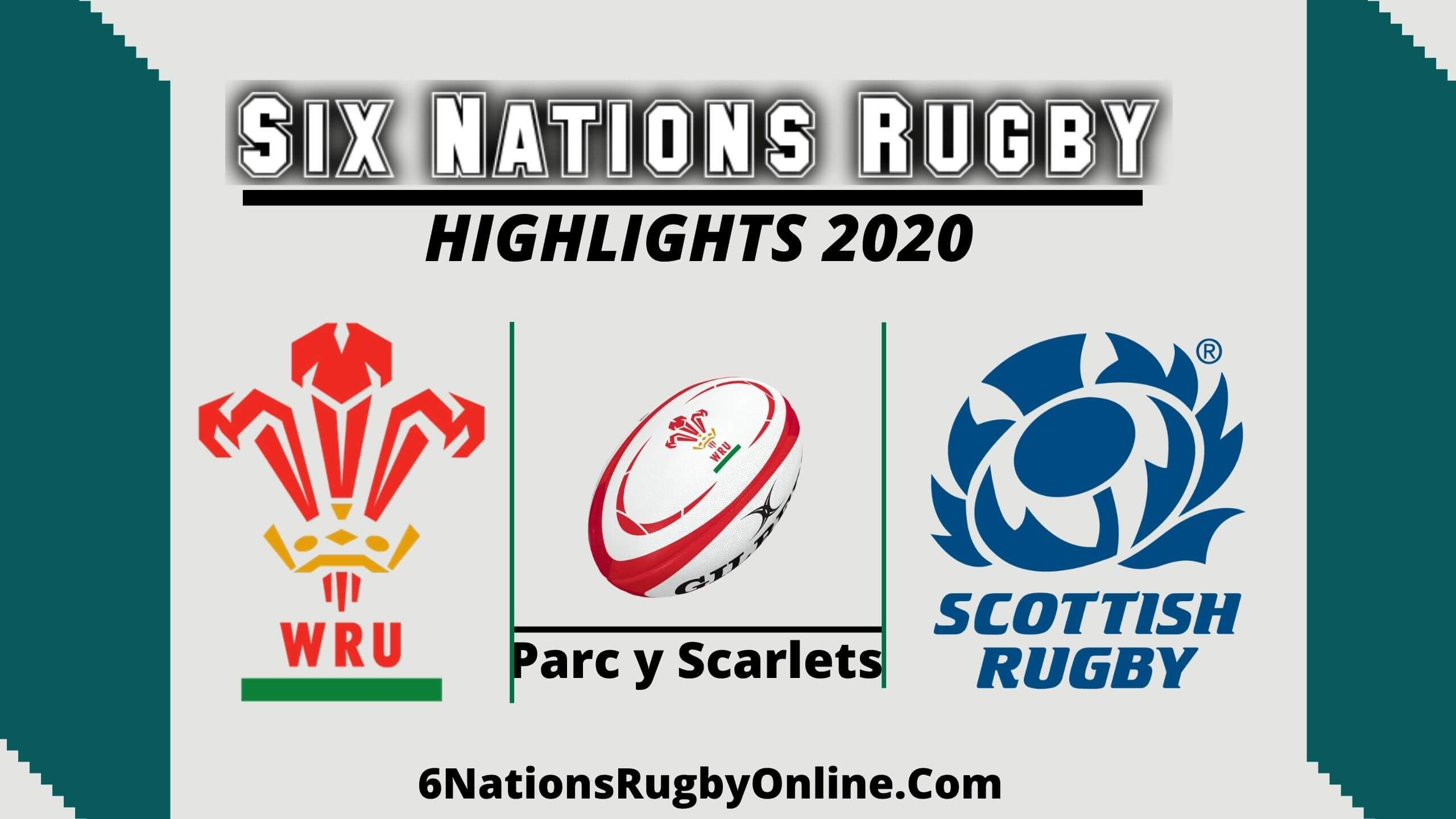 Wales vs Scotland Highlights 2020 Rd 5