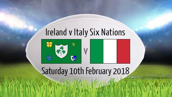 Italy vs France Six Nations Rugby Match 2018
