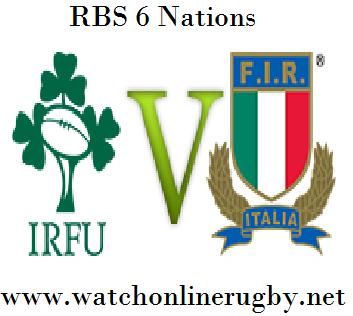 Ireland vs Italy six nations Rd 2