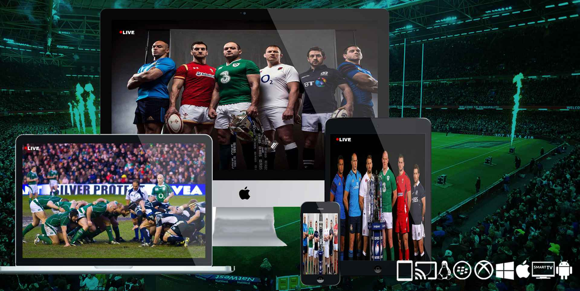 6 Nations Rugby Online: Six Nation 2020 Live Stream slider